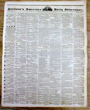 1837 newspaper w MARTIN VAN BUREN INAUGURATION w His Inaugural Speech in full