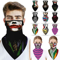 Unisex Face Cover Neck Balaclava Tube Scarf Neck Gaiter Earloop Headband Bandana