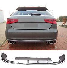 Für Audi A3 8V S-Line S3 Look Diffusor Stoßstange Heckansatz 3 Tür Sportback  =1