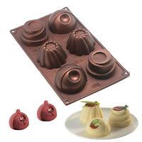 Large Silicone Chocolate Mould Tray Round Icing Craft Cake Jelly Baking Ice