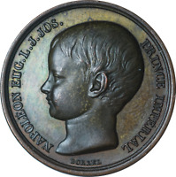 France Bronze Medal Birth of Napoleon's Son Louis Jean Joseph 1856 25mm AU