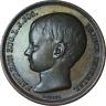 France Bronze Medal Birth of Napoleon's Son Louis Jean Joseph 1856 25mm AU