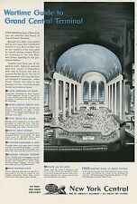 1943 New York Central Railroad Grand Central Station During War Wartime  WWII
