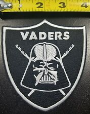 """OAKLAND RAIDERS~Darth Vader~4"""" Iron/Sew on Patch~FREE SHIPPING FROM THE U.S.~"""