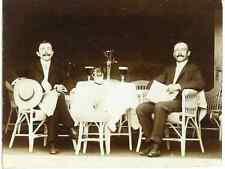 Déjeuner en terrasse Vintage print Tirage argentique  6x9  Circa 1910  <di