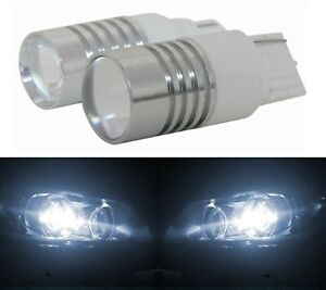 LED Light 5W 7440 White 5000K Two Bulbs Back Up Reverse Replace Plug Play
