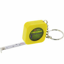 New 1pc 3 Feet Mini Measure Tap Ruler w/ Key Chain - Assort Color
