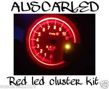 Nissan Skyline R34 & Stagea Dash Wedge Cluster RED LED Light bulb globe Kit