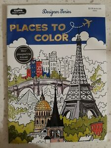 PLACES TO COLOR Your Passport To Travel By KAPPA Adult Color Book FREE SHIPPING!