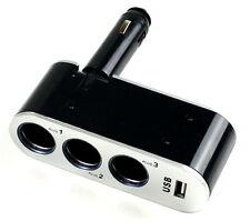 3fach Zigarettenanzünder 12V/24V KFZ USB NAVI HANDY Verteiler Steckdose AUTO