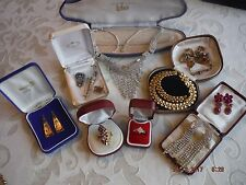 10x Vintage/Modern Mixed Jewelry Job Lot Necklaces,Brooches,Earrings,Ring,436