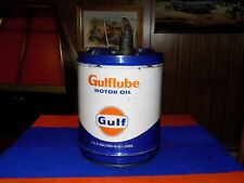 Vintage, GULF 5 gallon oil can