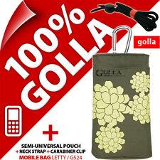 NUEVO Golla Verde Funda De Teléfono Bolso para Nokia 108 220 225 Samsung E1270
