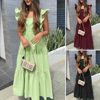 Maxikleid Gr.44+48+50+54+56 Kleid Maxi lang Rosa Pink Damen Paisley Sommerkleid