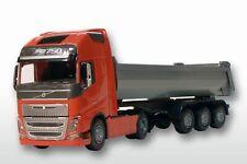 EMEK 22355 Volvo FH04 GL 4x2/3a. Kippauflieger 1:25 rotes Fahrerhaus, 55cm