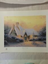Thomas Kinkade Christmas Tree Cottage V Lithograph1994 Ltd Edition 1160/2950 S/N