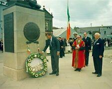 President John F. Kennedy lays wreath in Wexford Ireland New 8x10 Photo