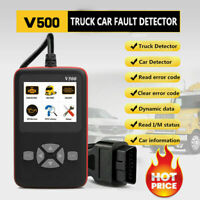 V500 Heavy Duty Truck Scan Tool + OBD2 Vehicle Scanner DPF/Oil Reset Code Reader