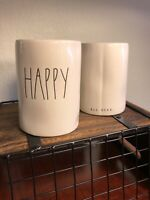 """NEW Rae Dunn """"HAPPY"""" Citrus Scented Candle 11.4oz By Magenta"""