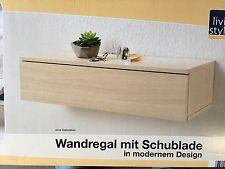 Bücher Regal Wandboard Wandregal mit Schublade Sona Eiche 60x23x15cm.NEU
