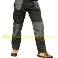 Blackrock Mens Cargo Combat Workwear Trousers Pants Knee Pad Pockets Black Navy