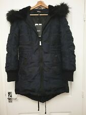 Dkny jacket women Hoodie Fur Expandable bottom Size S