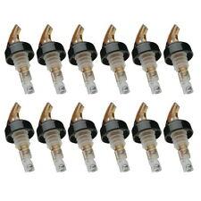 Measured Liquor Bottle Pourer 1-1/2 oz. Precision Pour w/Collar 12 Pack, Amber
