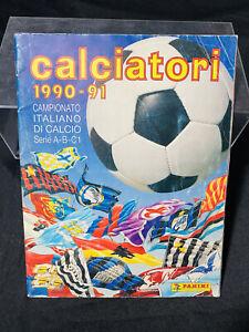 ALBUM FIGURINE  PANINI CALCIATORI '90-'91 NON COMPLETO,OTTIMO