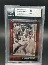 1999 Upper Deck Michael Jordan Career #6 Wizards Practice Jersey BGS 8 - MINT