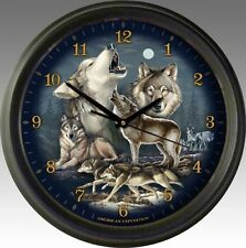 """WOLF Collage-16"""" Wall Clock by American Expedition"""