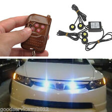 4in1 CREE Hawkeye LED White Car Front Grille Strobe Flash Light DRL Reverse Lamp