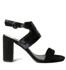 Wide Fit Shoes Size 7 Ladies Black High Heel Ankle Strap Sandal Dorothy Perkins