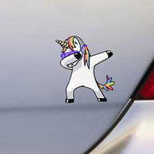 Lovely Unicorn Dancing Car Sticker Styling Cartoon Funny Decals Vinyl Waterproof