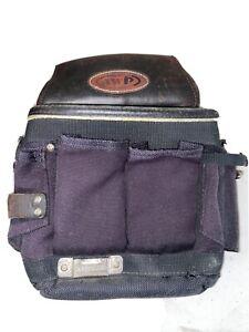 AWP Black Workman's Carpenter Belt Hip Belt Pouch Bag Tool Belt 1L-72505