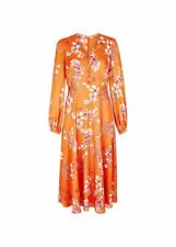Hobbs Floral Ferrier Dress Midi Fit & Flare Long Sleeve