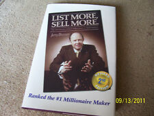 LIST MORE SELL MORE by Jerry Bresser (2005 updated reprint - hardcover)