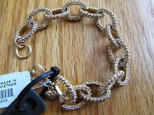 "NWT J Crew Women's 7"" Gold & Crystal Pave Link Bracelet With J Crew Jewelry Bag"