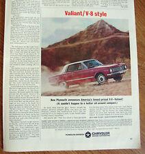 1964 Plymouth Valiant Ad  V-8 Style