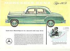 Mercedes Benz  Single Sheet  180 D  Sedan  Circa 1958