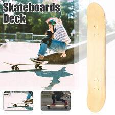1/5 PCS 8 Layers Maple Double Concave Skateboards Natural Skate Deck Blank Board