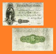 Australia 10 Pounds 1910. UNC - Reproduction