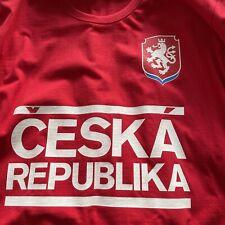 Czech Republic Football Warm Up Tee Shirt. Xxl Size.