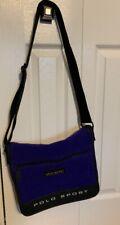 Vintage Polo Sport Ralph Lauren Blue Spellout Messenger Shoulder Bag Logo Wool