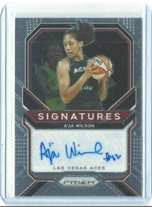 2021 WNBA PANINI PRIZM *A'JA WILSON * SIGNATURES AUTOGRAPH CARD LAS VEGAS ACES