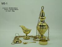 Christian Catholic Church Priest Gift Brass Hanging Censer with Boat M5-1