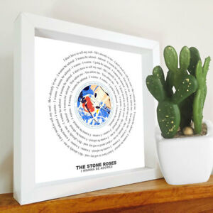 The Stone Roses - I Wanna Be Adored - Framed Lyrics Manchester Bands - Ian Brown