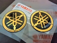 45mm YAMAHA 3D Logo Raised Fuel Tank Sticker Decals GOLD R1 R6 FZ1 FZ6 FZ8 x 2