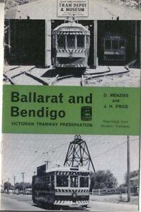 Ballarat & Bendigo (Australia) by Menzies & Price reprinted from Modern Tramway