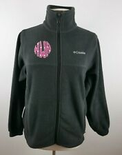 Columbia Girls Warm Fleece LS Full Zip Black Sweater Jacket Youth Size 18/20 HAW
