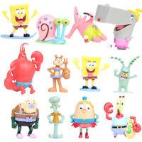 12Pcs SpongeBob Squarepants Action Figure Set Patrick Star Dolls Toy Cake Topper